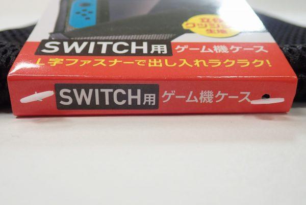 百均浪漫◆任天堂SWITCH用ソフトケース。商品タグ側面詳細写真。