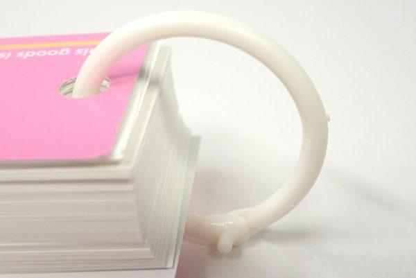 百均浪漫◆単語カード 3個パック。リング側詳細写真。