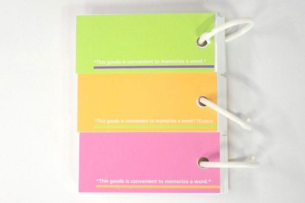 百均浪漫◆単語カード 3個パック。枚数は70枚。
