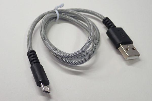 百均浪漫◆スマートフォン充電専用ケーブル(Micro-USB)。ケーブル全体写真。