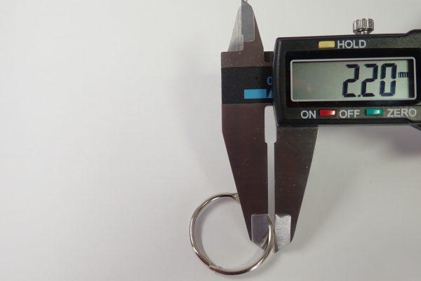 百均浪漫◆カードリング Φ25mm 3号 11個入。サイズ測定。どのあたりがΦ25mm?