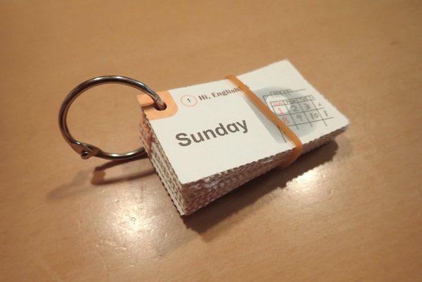 百均浪漫◆カードリング Φ25mm 3号 11個入。参考書付録のカードまとめに。