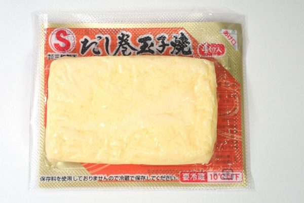 百均浪漫◆三和製玉 だし巻卵焼。パッケージ表側詳細写真。