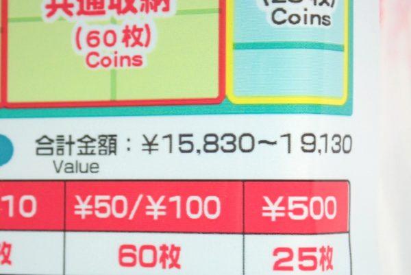 百均浪漫◆ダイソー・コイン収納ケース。合計金額はなんと15,830~19,130円