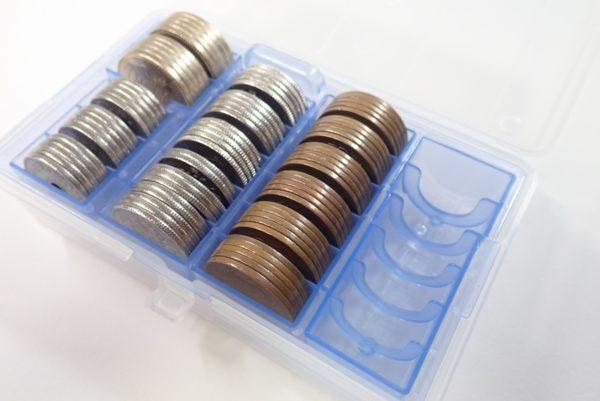 百均浪漫◆和泉化成 newセパレートコインケース。お金を入れてみた。