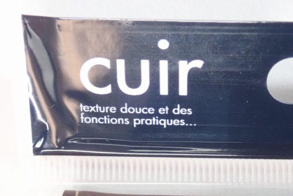 百均浪漫◆レザーカードホルダー MINI タテ型 20ポケット。フランス語で商品紹介。