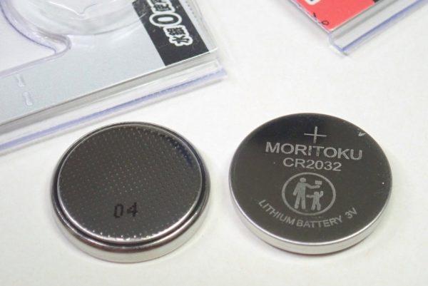 百均浪漫◆モリトク・リチウムコイン電池・CR 2032。リチウムコイン電池を取り出してみました。